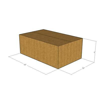 10 -16 x 10 x 6 200# / 32 ECT Corrugated Boxes -New for Moving or Shipping Needs