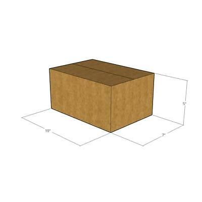 10 -10 x 7 x 5 200# / 32 ECT Corrugated Boxes -New for Moving or Shipping Needs