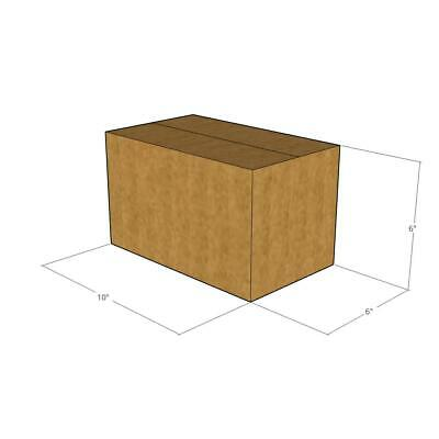 25 - 10 x 6 x 6 200# / 32 ECT New Corrugated Boxes