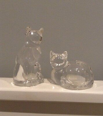 Bleikristall Lead Crystal Cats Cruet Set