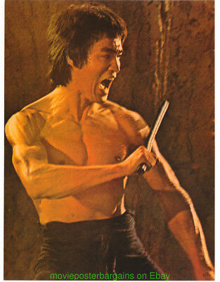 2f1f67a24cf BRUCE LEE POSTER 1974 Original Vintage OSP MOVIE POSTER 8x12 Inch Thick  Card   5