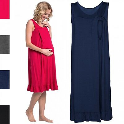 Happy Mama. Women's Maternity Nursing Nightdress Gown Nightshirt Pregnancy. 989p