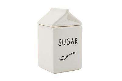 Ceramic Milk Carton Shaped Sugar Bowl -  A Great Gift For The Home And Kitchen