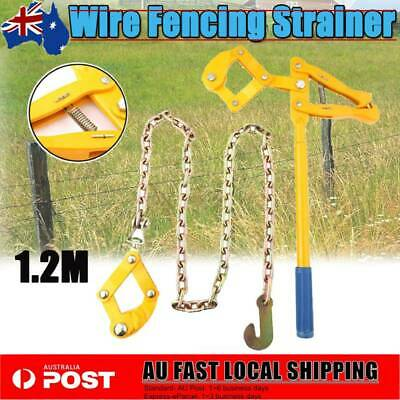 Heavy Duty Wire Fence Strainer + Plain Barbed Chain Fencing Repair Tool AU Post