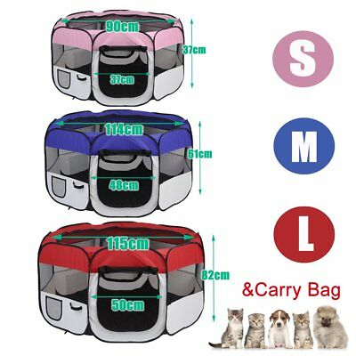 8 Panel Pet Dog Playpen Exercise Cage Puppy Enclosure Fence Rabbit Play Pen TeFQ