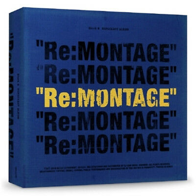BLOCK B [RE:MONTAGE] 6th Mini Repackage Album CD+Photobook+Card+Calendar Set+etc