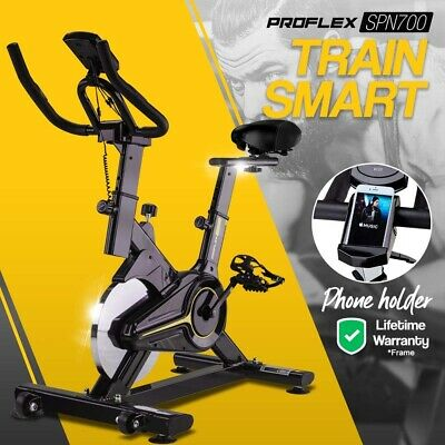 NEW PROFLEX Spin Bike -Flywheel Commercial Gym Exercise Home Workout Yellow