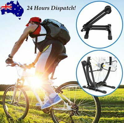 """Bicycle Floor Parking Storage Stand Bike Cycling Display Rack Holder """"L"""" StyleFQ"""