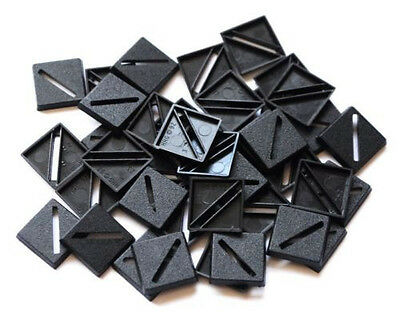 25 (Twenty Five) 20mm Square Slotta Bases for Wargaming / Roleplaying NEW
