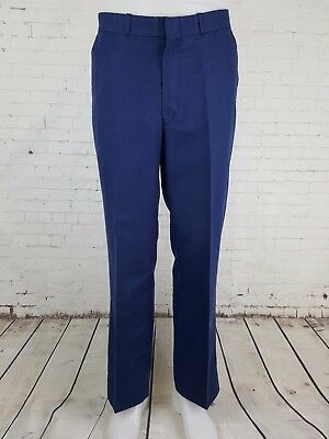 Vtg Blue Mens Lightweight Sta Prest Trousers Mod W30 EJ28