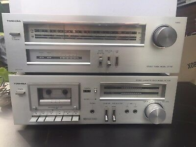 Vintage Toshiba Tape Deck and Tuner - PC-E30 & ST-T30