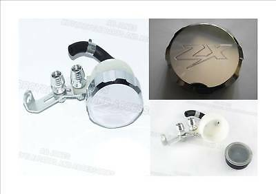 Brake reservoir set polished cover engraved alloy cap Kawasaki ZX