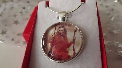 Taylor Swift  Singer Necklace Dance Pop Music Gift Boxed  22 Inch Silver Chain