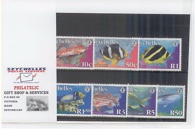 Seychelles stamps 2003-2010 - Fish MNH w Cover of Seychelles Philatelic Bureau