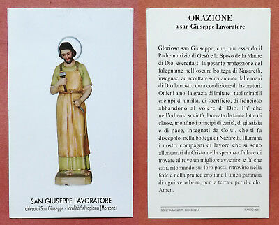 Santino Holy Card: S. San Giuseppe Lavoratore - Morcone