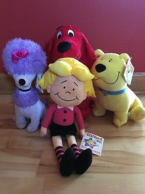 Kohls Cares For Kids Clifford Cleo Tbone And Emily Elizabeth Plush New W/Tags
