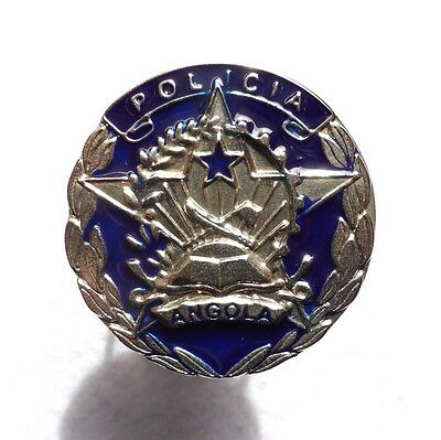 Vintage ANGOLA Police hat badge insignia