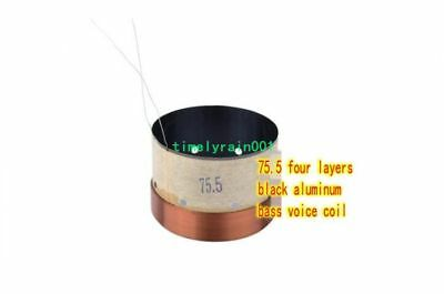 1pcs 75.5mm 8ohm 8Ω BASV Bass speaker voice coil 4-layer round wire woofer coil