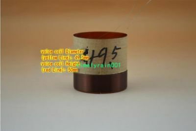 2pcs 49.5mm 8ohm 8Ω KSV round wire woofer coil kabitong bass voice coil