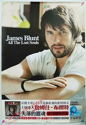 James Blunt All The Lost Souls Taiwan Promo Poster NEW