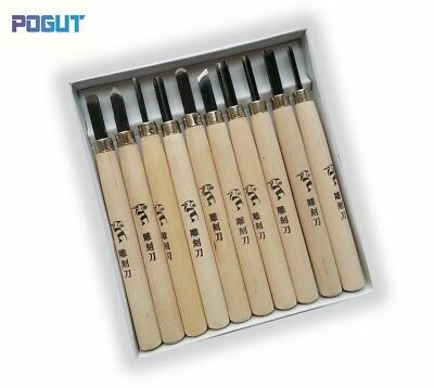 10Pcs Small Size Woodpecker Dry Hand Wood Carving Tools Chip Detail Chisel Knife