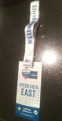 NFL London Games Wembley 2017 Official Lanyard and pass