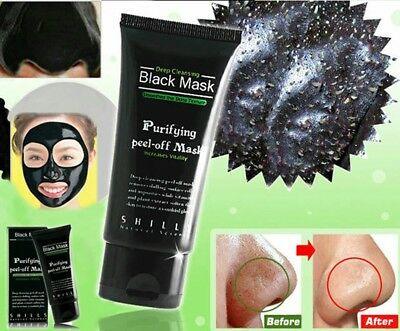 Black Mask SHILLS masque anti acné, points noirs au charbon 50ml peel-off mask