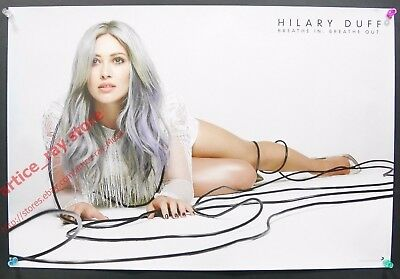 Hilary Duff Breathe In Breathe Out 2015 Taiwan Promo Poster NEW