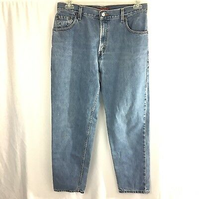 Levis Jeans Womens Size 12 M Relaxed Tapered 550 Med Wash Blue Mom Denim