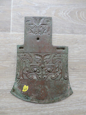 "Antique Chinese Bronze Axe ""YUE"" Archaic Song-Ming Dynasty"