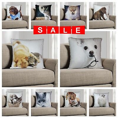 "Luxury Digital Printed 3D Animal Themed Square Cushion Covers & Filled 18"" x 18"""