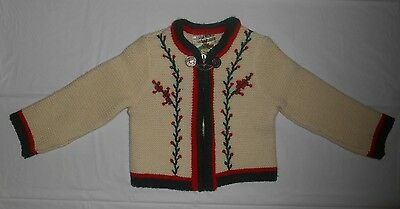 Vintage VOLLMER MODELL Infant Christmas Sweater - Polyacrylic & Wool