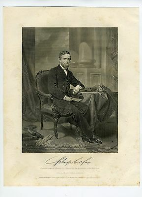 SCHUYLER COLFAX, US Vice President/Grant/House Speaker/Indiana, Engraving1867