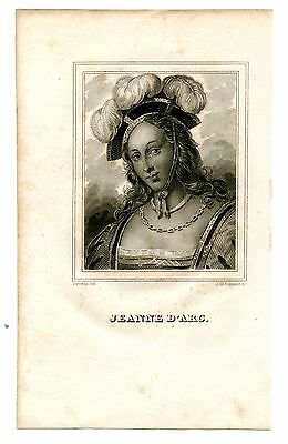 JEANNE D'ARC, Saint Joan of Arc/French Army Leader/Hundred Years War, Engraving