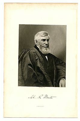 MORRISON WAITE, Chief Justice of the United States/Supreme Court, Engraving