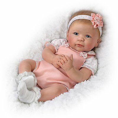 AVA So Truly Soft Silocone Lifelike Baby Doll by The Ashton-Drake Galleries