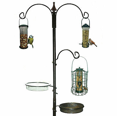 Wild Bird Feeding Station Hanging Feeders Garden Seed Feeder Birds Water Tray
