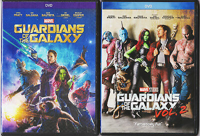 Guardians of the Galaxy Vol. 1 & 2 (DVD) BOTH MOVIES! REGION 1 (USA),!