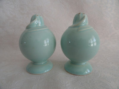 Lot 2 LuRay TS&T - Salt & Pepper Shakers  - Surf Green
