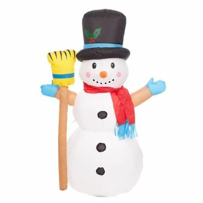 New 4FT Outdoor Inflatable Snowman Twinkle LED Festive Christmas Xmas Decoration