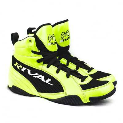 Rival Boxing RSX-GUERRERO Low Cut Kids Boxing Boots - Lime Black