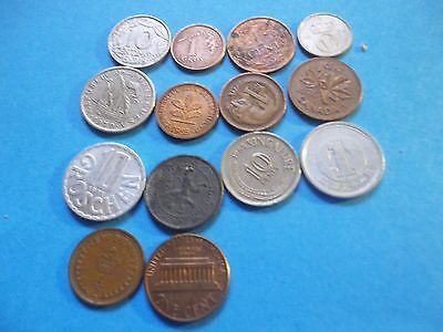 Good Mix Of 14 World Coins Poland To China  Etc  [#l431] Worth Consideration
