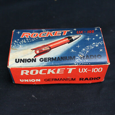 Mega Rare Boxed Germanium Crystal Union UX-100 Rocket Radio!