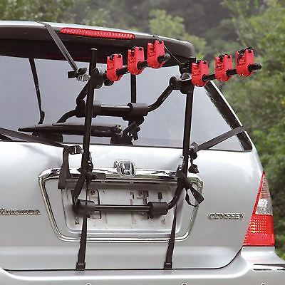 Universal 3 Bike Bicycle Carrier Car Rack Holder Fits Saloon Hatchback Estate