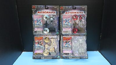 Palisades World Of Micronauts Acroyear    Series 1 Retro .0001 Set Of 4 Sealed