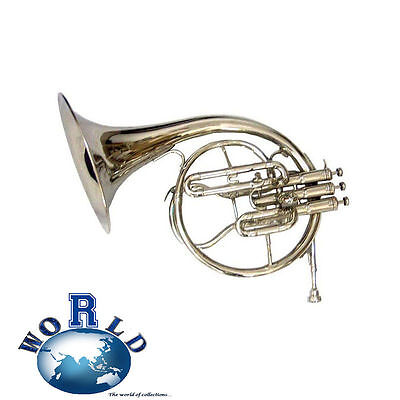 Best Offer^mellophone_Frenchhorn:bb/f^pitch^chrome Finish W/case&mouthpiece