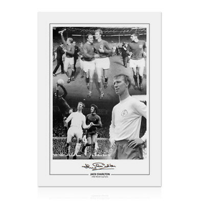 Jack Charlton Signed Photo - England & Leeds Football Legend Autograph