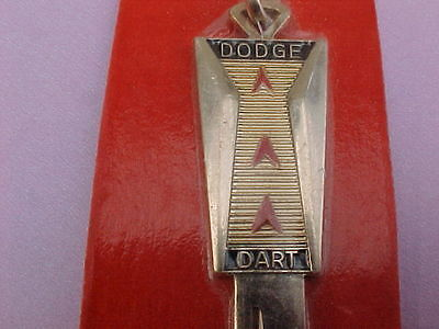#23 NICE  Vintage DODGE DART Gold Plated Key Blank (1966 ALL YEARS)