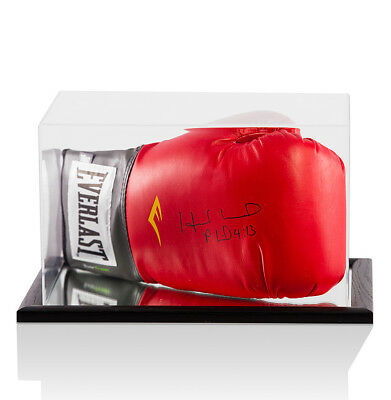 Evander Holyfield Signed Everlast Boxing Glove - In Acrylic Display Case