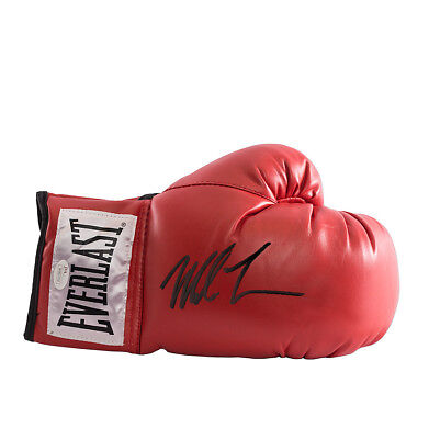 Mike Tyson Signed Red Everlast Boxing Glove - Signed Black Pen Autograph